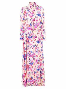 Natasha Zinko floral printed maxi dress - Neutrals