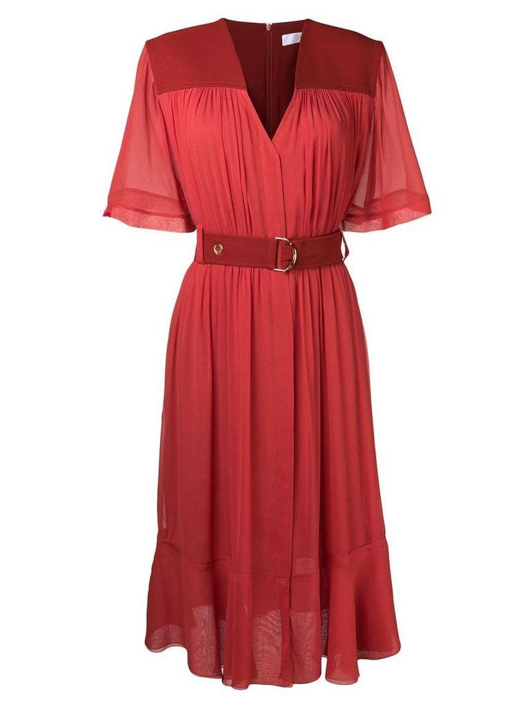 Chloé Cady midi dress - Red