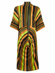 JW Anderson draped skirt striped dress - Black