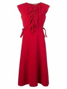 Bottega Veneta bow front midi dress - Red