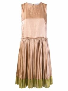 Red Valentino pleated shift dress - Neutrals