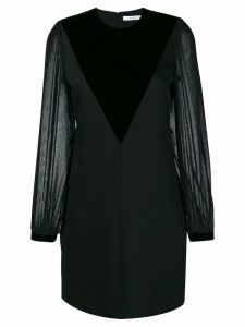 Givenchy velvet-panelled dress - Black