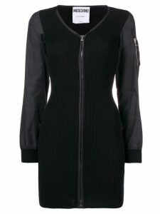 Moschino ribbed knit dress - Black