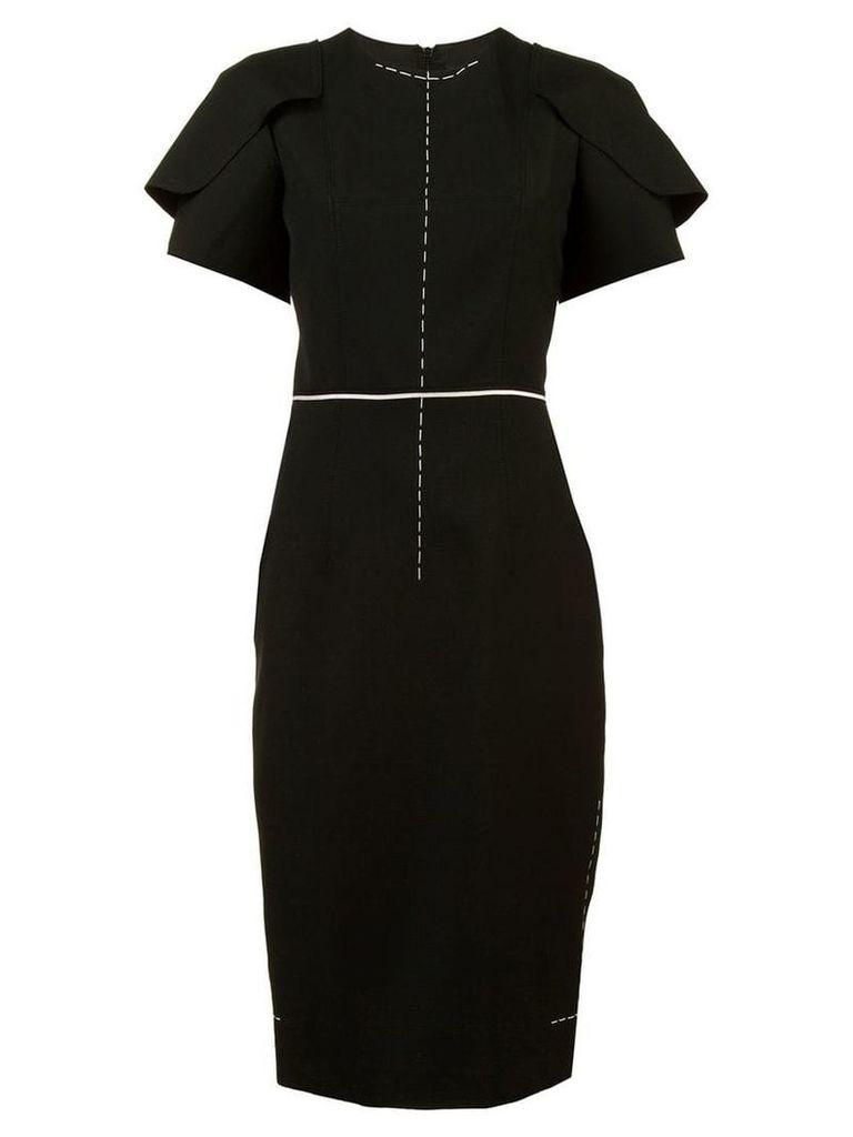 Vera Wang fitted short sleeve dress - Black