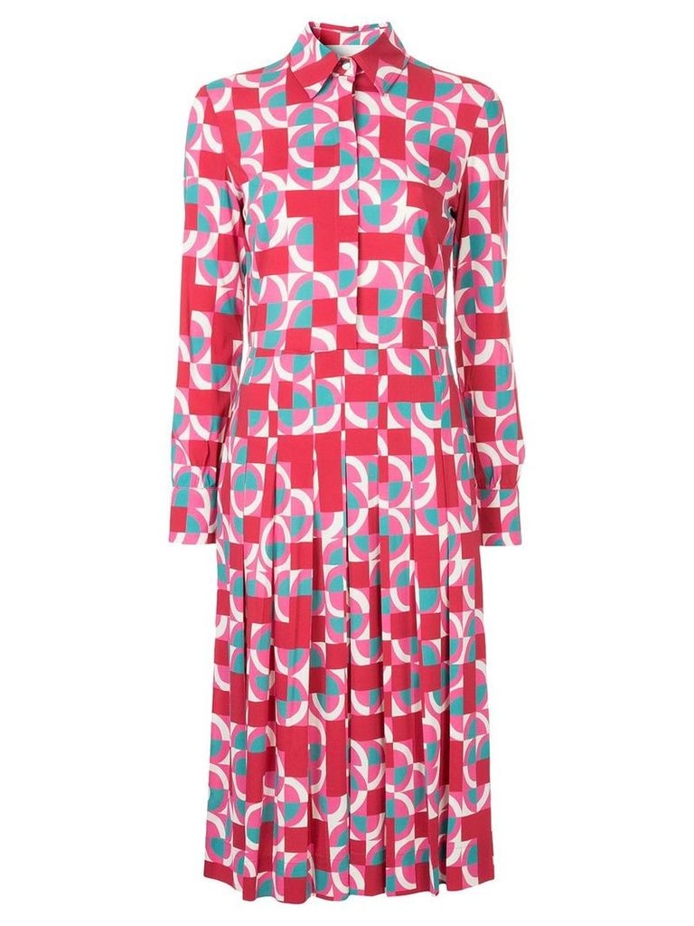 La Doublej geometric print shirt dress - Pink