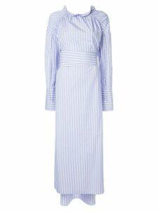 Teija Mekko striped shirt dress - Blue