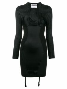 Moschino knit fitted dress - Black