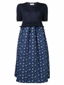 Comme Des Garçons Girl floral print quilted skirt dress - Blue