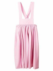 Comme Des Garçons Comme Des Garçons pinafore midi dress - Pink