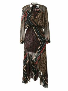 Preen Line multi-print asymmetric dress - Multicolour