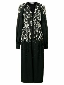 Attico beaded V-neck dress - Black