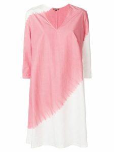 Suzusan diagonal dyed shift dress - Pink