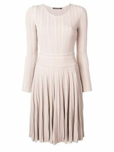 Antonino Valenti flared fitted day dress - Neutrals