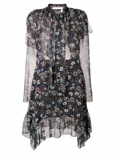 See By Chloé frilled longsleeved dress - Black