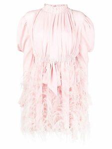Valentino embellished longsleeved dress - Pink