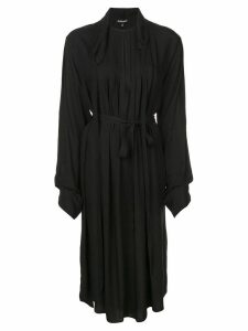Ann Demeulemeester pleated belted dress - Black