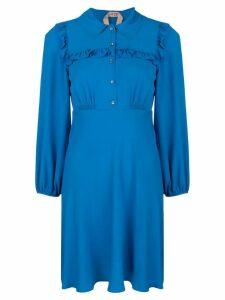 Nº21 ruffle trim mini dress - Blue