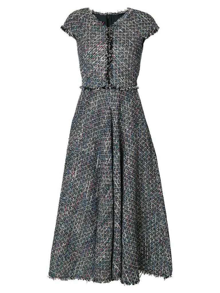 Talbot Runhof sequin embellished tweed dress - Multicolour