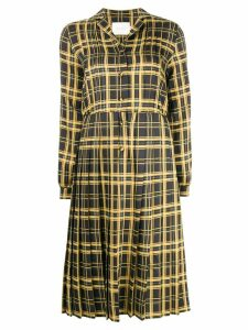 Neul checked pleated dress - Yellow