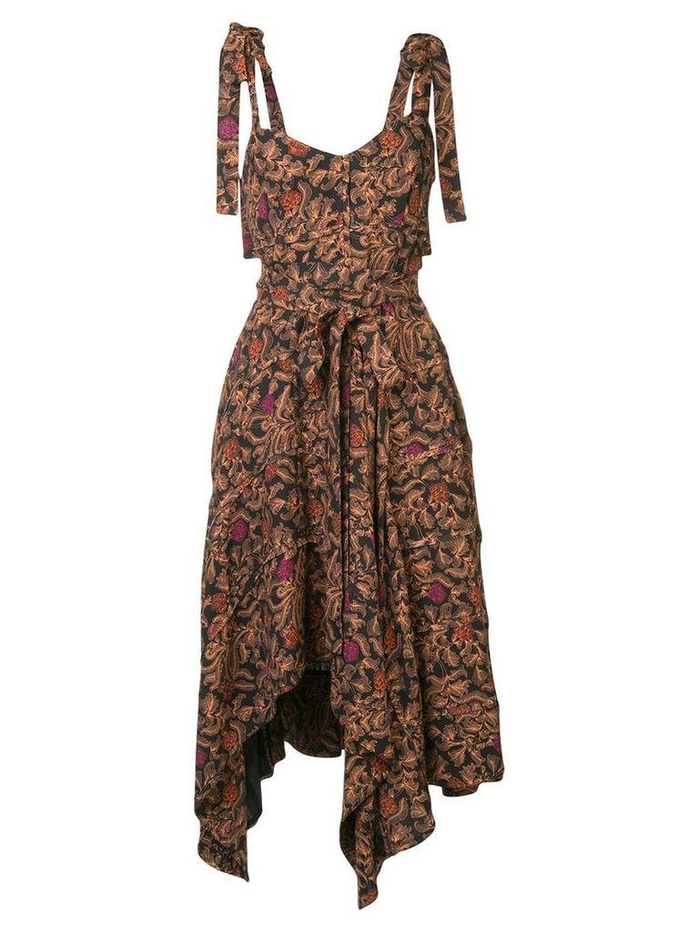 Proenza Schouler printed asymmetric dress - Black