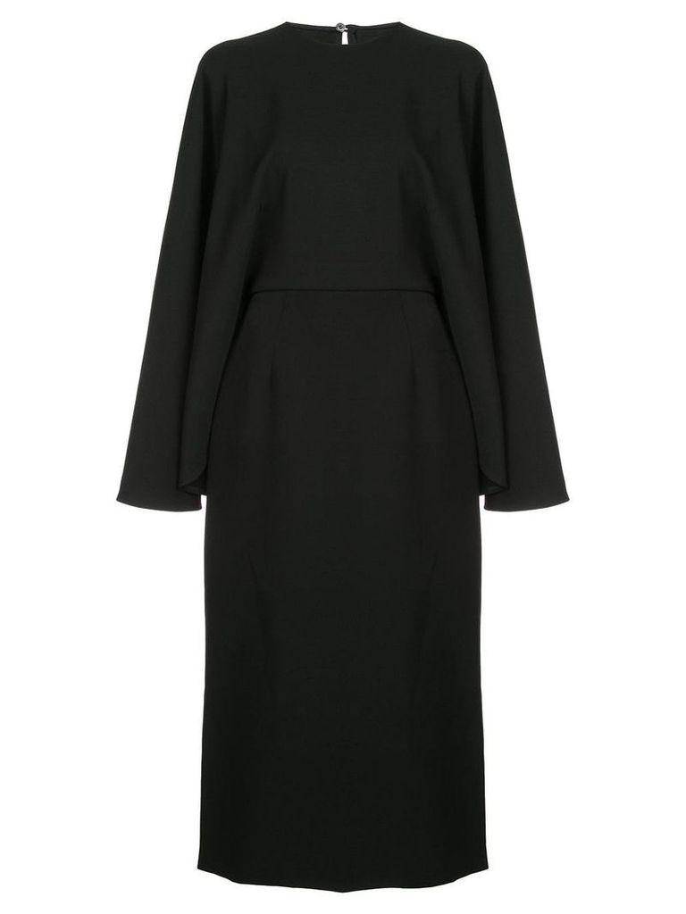 Sara Battaglia cape-style midi dress - Black