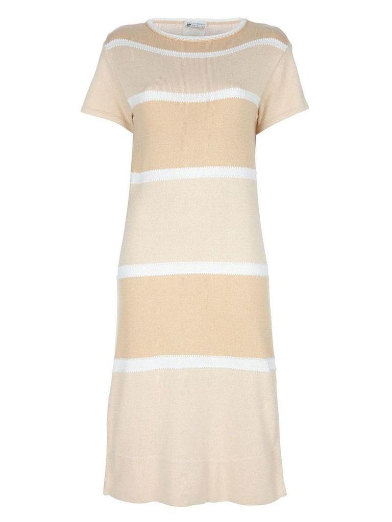Courrèges Vintage striped dress - Neutrals