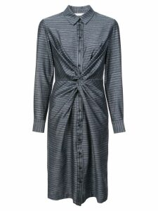 Kimora Lee Simmons pinstripe shirt dress - Blue