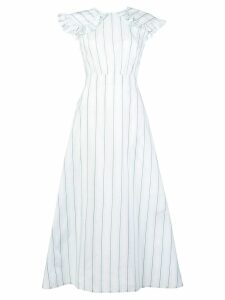 Calvin Klein 205W39nyc striped pioneer dress - White