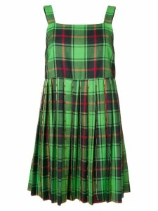 Marco De Vincenzo tartan flared mini dress - Green