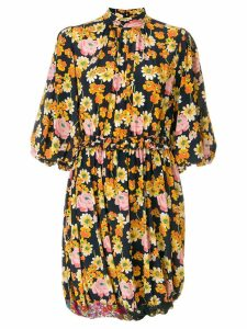 Joseph puff sleeve floral dress - Blue