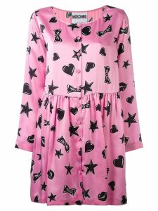 Moschino heart print dress - Pink