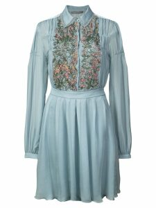 Alberta Ferretti floral-embellished dress - Blue