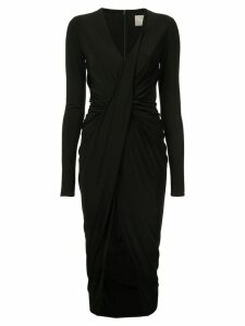 Jason Wu Collection longsleeved ruched dress - Black