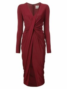 Jason Wu Collection ruched detail slit dress - Red