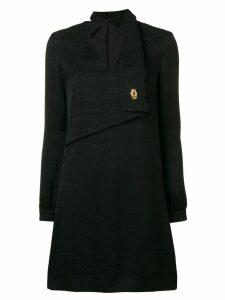 Cavalli Class logo print shirt dress - Black