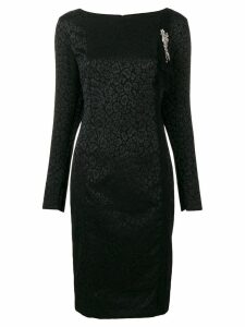 Cavalli Class longsleeved animal print dress - Black