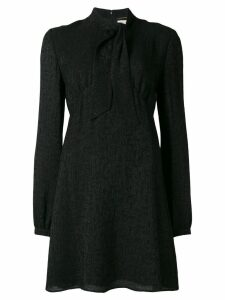 Saint Laurent tie neck mini dress - Black