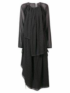Loewe sheer polka dot dress - Black