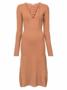 Stella McCartney lace up jersey dress - Neutrals