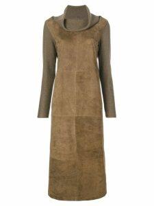 Fabiana Filippi turtle neck midi dress - 6091