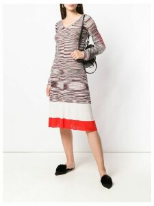 Missoni striped knitted dress - White