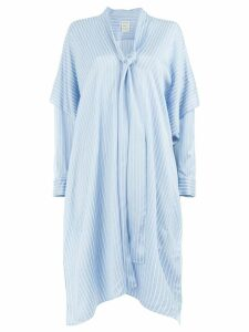 Maison Rabih Kayrouz flared striped dress - Blue