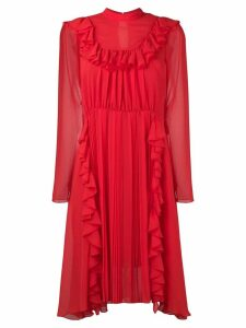 Dondup ruffled front dress - Red