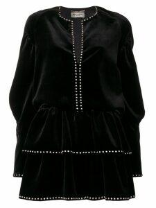 Saint Laurent studded velvet dress - Black