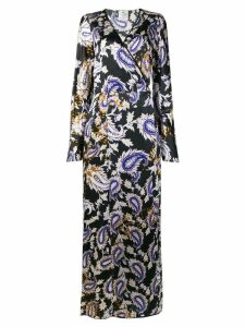 Forte Forte printed robe dress - Black