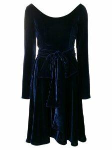 Rhea Costa velvet skater dress - Blue