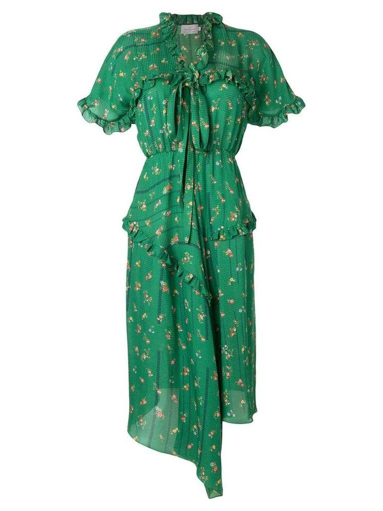 Preen By Thornton Bregazzi Georgi frilled dress - Green