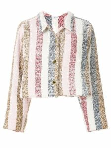 Thom Browne Bow Collar Striped Jacket - Multicolour