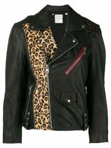 Zadig & Voltaire Liya Patch leather biker jacket - Black