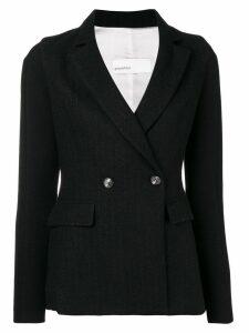 Gentry Portofino woven pinstripe blazer - Black
